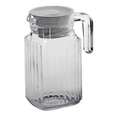Luminarc Karaffe Kühlschrankkrug 0,5 L Quadro Saft Wasser Milch Krug Milchkanne