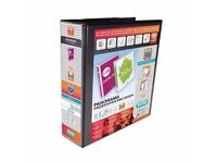 Elba Panorama Presentation Binder A4 4D-Ring 65mm Black (Pack of 4) 400008442 £30 only