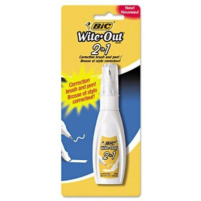 Wite-out 2-in1 Correction Fluid - Tip Brush Applicator - 0.51 Fl Oz - Wopfp11