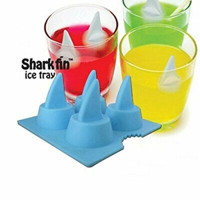 2Pcs Silicone Blue Shark Fin Ice Tray Cube Freeze Mould Novelty Chocolate Mold](Blue Ice Cubes)