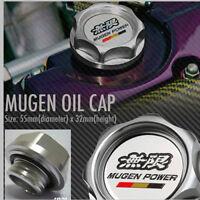 Mugen Billet Aluminum Engine Oil Fuel Filler Tank Cap Cover (Bra
