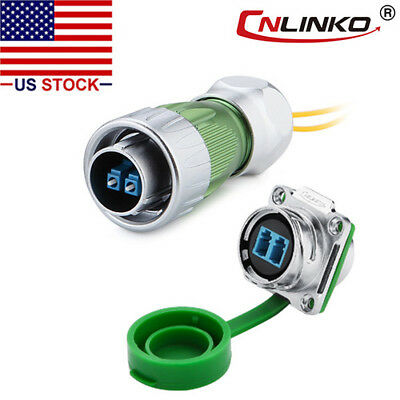 Cnlinko Fiber Optic Connector Plug Socket Outdoor W10ft Cable Single Mode Lc