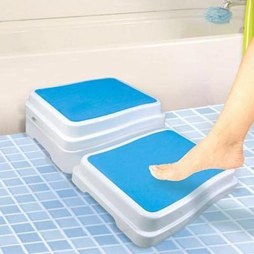 Plastic Bath Safety Step Booster Tub Bathtub Boost Ladder Raised Bathstep