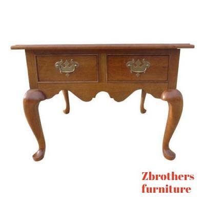 Bay Square End Table - vintage thomasville over sized queen ann solid cherry lamp end table bay colony