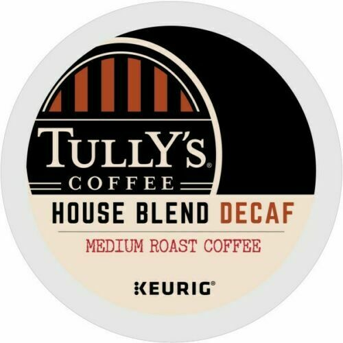 Tully's DECAF House Blend Coffee 24 to 144 Keurig K cups Pic