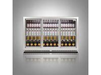 Glass Door Back Bar Undercounter Display Chiller by Husky in Silver