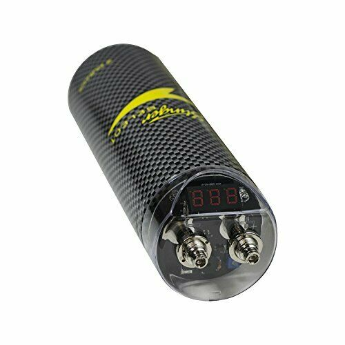 Stinger SSCAP2M Brushed Aluminum 2 Farad Digital Capacitor