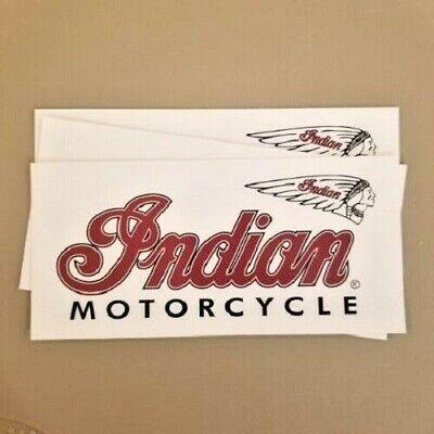 3 new Indian Motorcycle Vinyl sticker decals