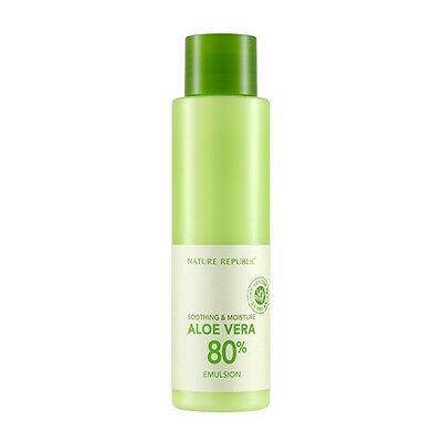 NATURE REPUBLIC Soothing And Moisture Aloe Vera 80% Emulsion 160ml KOREA