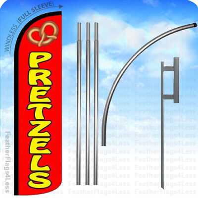 Pretzels - Windless Swooper Flag Kit Feather Banner Sign 15 Rz