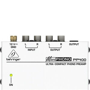Behringer Microphono Ultra-Compact Phono Preamp (PP400)