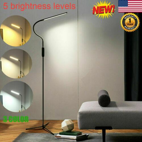 Adjustable LED Floor Lamp Light Standing Reading Living Dimm