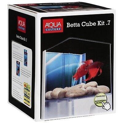 New Tetra Betta Aquarium Tank Cube Kit 0.7 Gallon Aquarium 047431905559