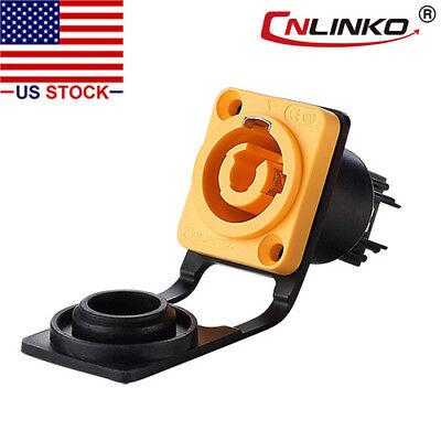 3 Pin Power Industrial Connector Socket Waterproof Ip67 Compatible W Neutrik