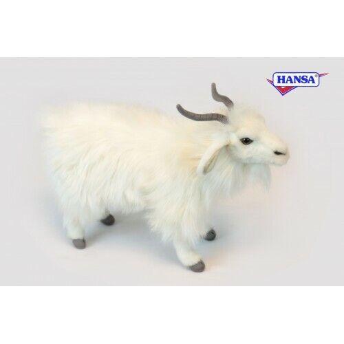 "Hansa White Turkish Goat Plush Toy 11"" High, Very Realistic, Poseable"