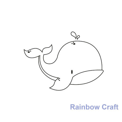 Kaisercraft mini stamps - 26 wording / patterns Scrapbooking card making - Whale