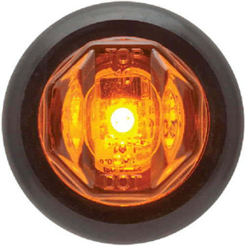 Amber Submersible Mini Sealed LED Boat Trailer Clearance and Side Marker Light
