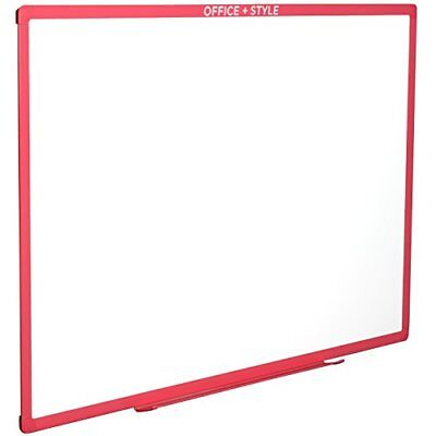 Large Magnetic Dry Erase Board Wall Mounted. 24x36. Pink. By Office Style