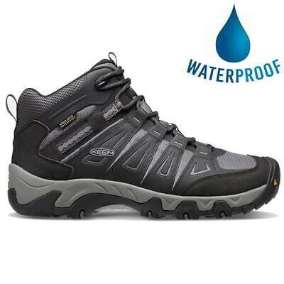 Keen Oakridge Mid WP Mens Black Waterproof Walking Hiking Boots Size UK 8-12