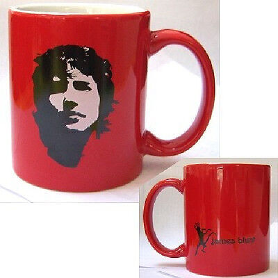 JAMES BLUNT! FACE/HEAD IMG RED COFFEE CUP MUG RARE NEW