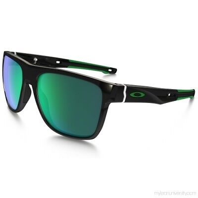 Oakley Men's Sunglasses Crossrange XL Polished Black/Jade Iridium OO9360-0258 for sale  Shipping to India