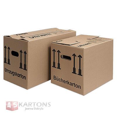 Umzugskartons 1- 2-wellig Bücherkartons 3 Sorten Menge wählbar stabil XXL 40