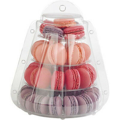 4 Tier Macaron Tower Stand with carrying Case for French Macarons by Cheerico. - 4-tier Tower