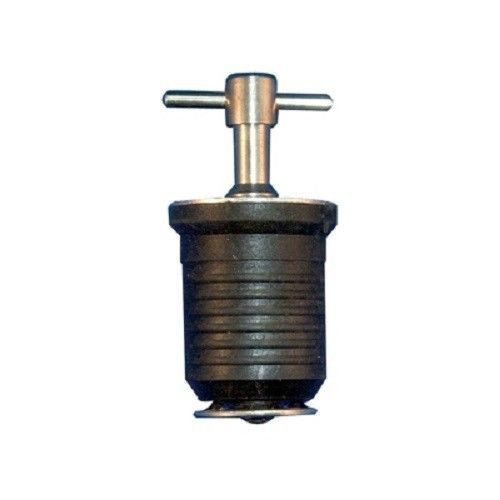 """Boat Marine Brass 1/"""" Twist Type Drain Plug With Rubber Expansion For Tight Seal"""