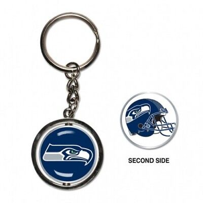 Nfl Seattle Seahawks Wincraft 2 Sided Spinning Key Ring New