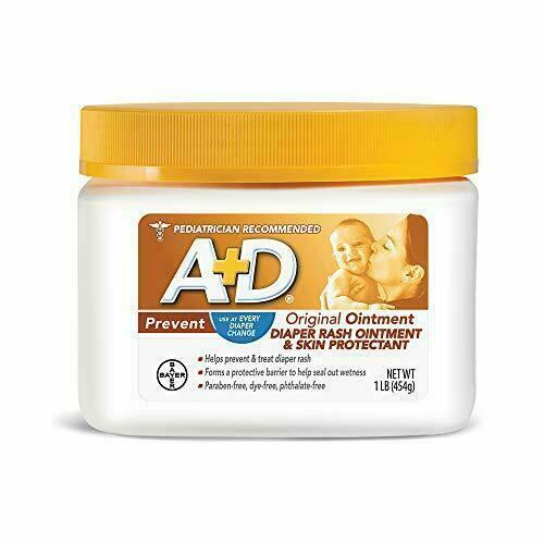 A+D Original Diaper Rash Ointment, Skin Protectant With Lanolin and Petrolatum