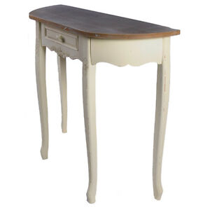 SHABBY CHIC SIDE HALF MOON HALL TABLE 31