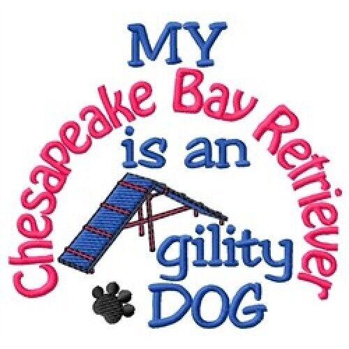 My Chesapeake Bay Retriever is An Agility Dog Short-Sleeved Tee - DC1882L