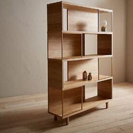 John Lewis - Design Project No.004 Display Unit/Bookcase Oak & Brass rrp £699