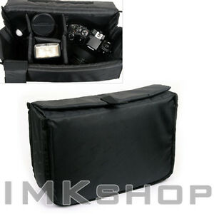 NEW-MATIN-Camera-Insert-Extendable-Partition-Padded-Bag-L-for-DSLR-SLR-Lens