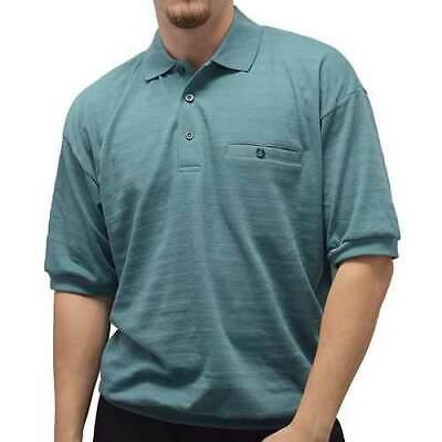 Banded Bottom Shirts For Men (Safe Harbor Men's Jacquered Banded Bottom Short Sleeve Shirt In Sage Green )