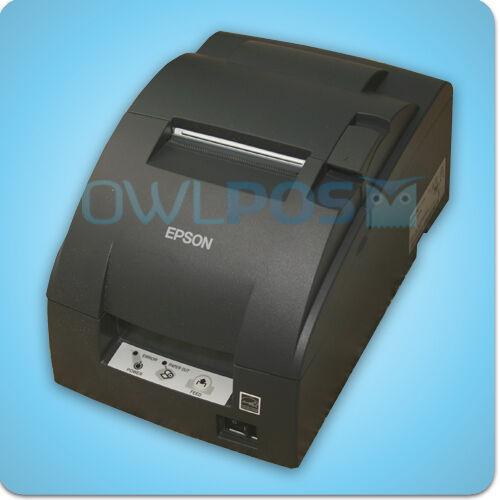 Micros Epson TM-U220B Receipt Printer Impact IDN Ports Dark Gray REFURB M188B