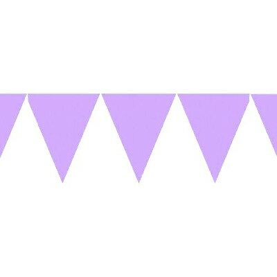 Purple Paper Pennant Flag Banner Bunting Party Decoration Set -15ft Long - New  ()
