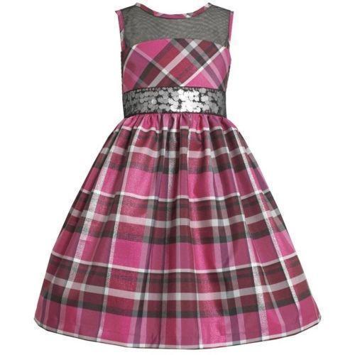 bonnie jean plaid dress ebay
