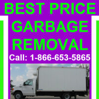 When you want the best price garbage removal...