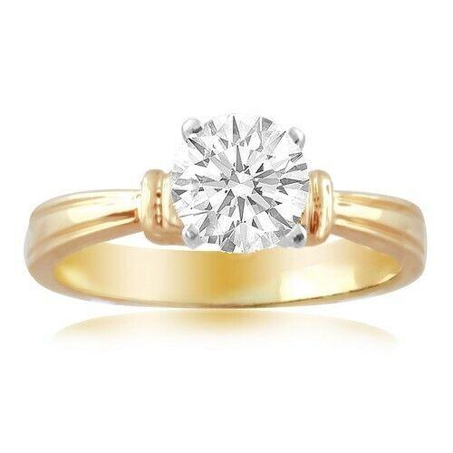 Solitare Engagement Diamond Ring 0.5CT Natural Diamond 18K Gold