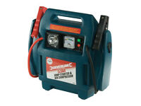BOSUN 12V PORTABLE CAR JUMP STARTER AIR COMPRESSOR BATTERY START BOOSTER CHARGER LEADS, RRP £60