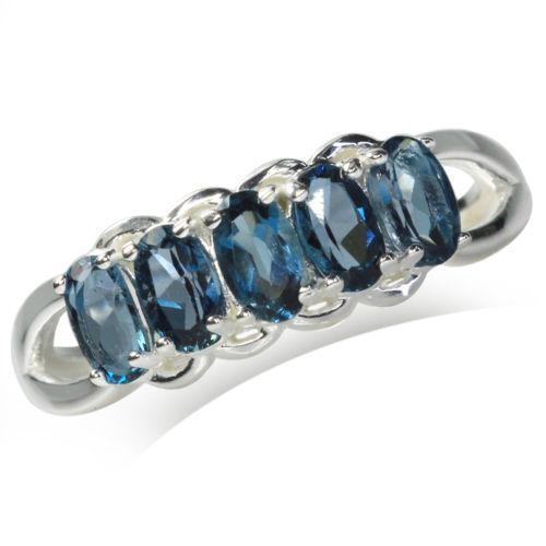 London Blue Topaz Ring Ebay