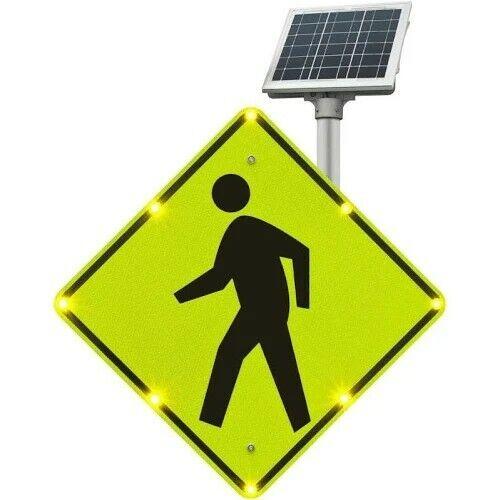 Tapco Flashing Solar LED Pedestrian Crossing Sign 2180-00214