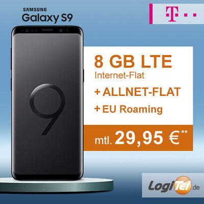 Samsung Galaxy S9 Handy mit Telekom 8GB Vertrag Allnet Flat inkl. 29,95? mtl.