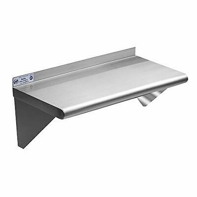 Stainless Steel Shelf 12 X 24 Inches 230 Lb Commercial Nsf Wall Mount Floatin...