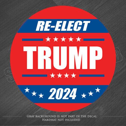 10x Trump hard hat sticker president election vote America USA 2024 bumper