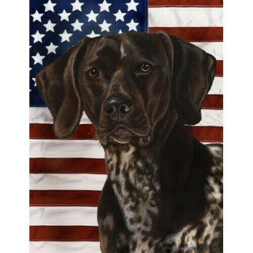 Patriotic (D2) House Flag - German Shorthaired Pointer 32049