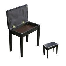 APKB-160 Keyboard Piano Bench / Stool / Padded Seat - Black