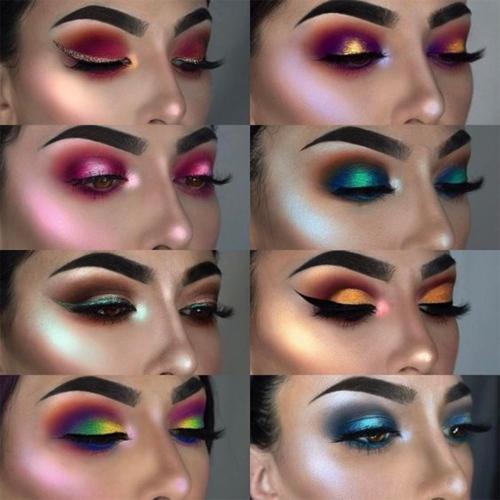 28 Color PHOERA Glitter Shimmering Colors Eyeshadow Metallic Eye Cosmetic Charm