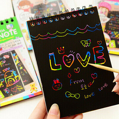 Scratch Paper Art (Book Scratch Scraping Magic Painting Paper Art Drawing Stick Toy for Kids)